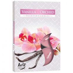 Bispol Świece zapachowe Wanilia-Orchidea, 6 szt.