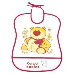 Śliniak plastikowy miękki Canpol babies
