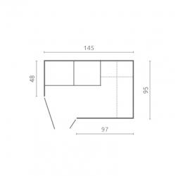 Mondex Chlebak metalowy szary HTBC 4761 S