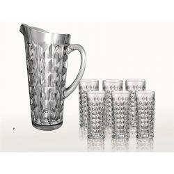 Bohemia Zestaw szklanek + dzban Diamond, 6 + 1 szt.
