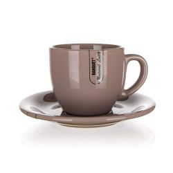 BANQUET Filiżanka ceramiczna ze spodkiem NATURAL Latte 250 ml
