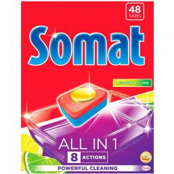 Somat All In 1 Tabletki do zmywarki Lemon&Lime 48 szt.