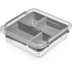 ORPLAST Pudełko do przechowywania Box 0,6 L + insert 15x15