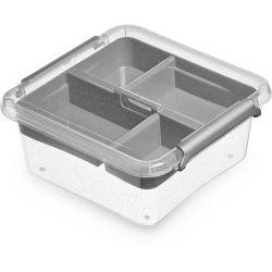 ORPLAST Pudełko do przechowywania Box 0,85 L + insert 15x15