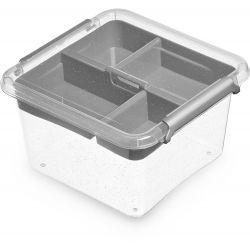 ORPLAST Pudełko do przechowywania Box 1,15 L + insert 15x15
