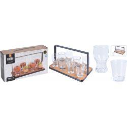 Zestaw szklanych naczyń, 9 elementów