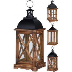 Drewniana latarnia brązowy, 41 cm