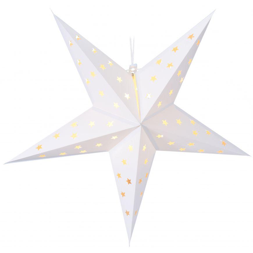 Gwiazda LED biała, 60 cm