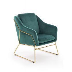 SOFT 3 fotel wypoczynkowy złoty stelaż, ciemny zielony (1p 1szt)
