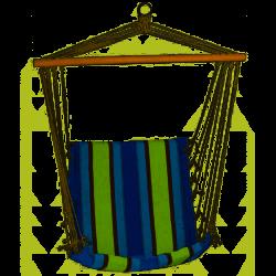 Krzesło Brazylijskie 100 x 50 cm granatowy/seledyn pasy