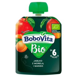 Mus jabłko z morelą i mango BoboVita Bio 80g NUTRICIA