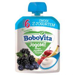 Deserek BoboVita JogoMi! Owoce jagodowe z bananem 80g NUTRICIA