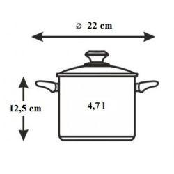 Banquet Garnek z pokrywką AKCENT NEW LINE 22 cm 4,7 L