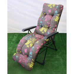Fotel ogrodowy malaga plus szary modern