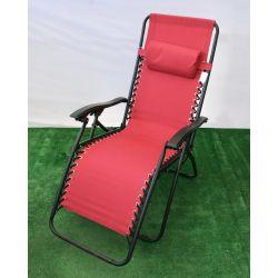 Fotel ogrodowy relax luksusowy bordowy