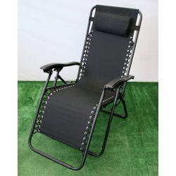 Fotel ogrodowy relax luksusowy grafit