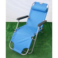 Fotel ogrodowy składany Tampico niebieski