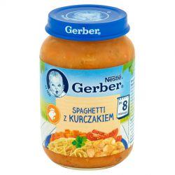 Gerber obiadek spaghetti z kurczakiem 8m+ 190g Nestle