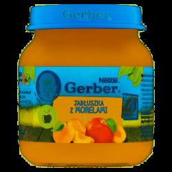 Gerber deserek jabłuszka z morelami 4m+ 125g Nestle