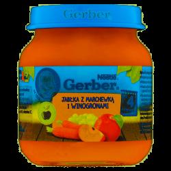 Gerber deserek jabłka z marchewką i winogronami 4m+ 125g Nestle