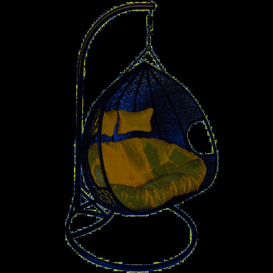 Fotel bujany dwuosobowy robert szary/beżowy