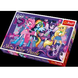 Trefl Shine Color Puzzle Przyjaciółki z Equestrii 160 el.
