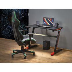 B40 biurko gamingowe czarny / czerwony (1p 1szt)