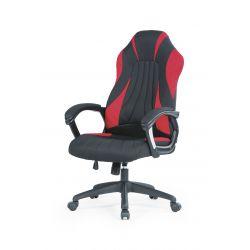 SHERIFF fotel gabinetowy czarny / czerwony