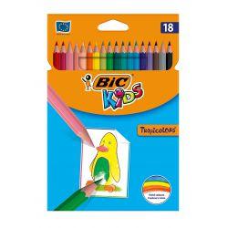 Kredki Tropicolors 18 kolorów BIC