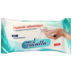 Ravi Chusteczki odświeżające Travella z płynem antybakteryjnym 15 szt