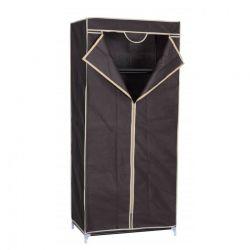 Szafa tekstylna wym. 70 x 45 x 155 cm, brązowy + beżowy