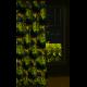 Zasłona Ibiza zielony/beżowy/czarny 140x250 cm przelotki EUROFIRANY