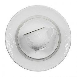 Ćmielów Zestaw obiadowy ROCOCO PLATYNOWA LINIA 3605 dla 12 osób, el. 44