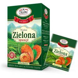 Malwa Herbata Zielona z Opuncją, 20 torebek w kopertach