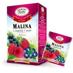 Malwa Herbatka Malina z Jagodą i Açai, 20 torebek w kopertach