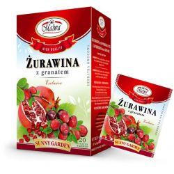 Malwa Herbatka Żurawina z Granatem, 20 torebek w kopertach