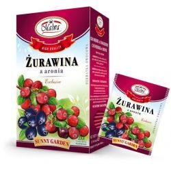 Malwa Herbatka Żurawina z Aronią, 20 torebek w kopertach