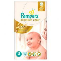 Pampers Pieluchy Premium Care 3 Midi 4 - 9 kg 60 szt.