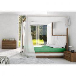 FARO Vanille Komplet pościeli bawełnianej w kropki,220 x 200 cm