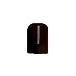 Dekorama Haczyk samoprzylepny brązowy 4szt.