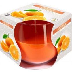 Bispol Świeca zapachowa w szkle SN71-63 pomarańcza