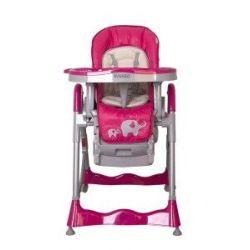 Coto Baby Krzesełko do karmienia Mambo, pink