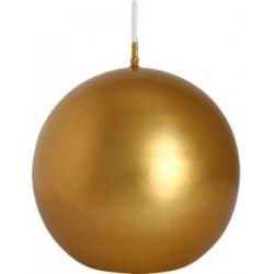 Bispol Świeca kula, złota, SK80-213