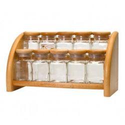 Practic Półka z 10 szklanymi pojemnikami PRESIDENT