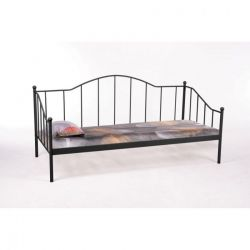 SIGNAL Łóżko metalowe 90 DOVER czarne