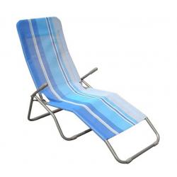 Happy Green Leżak plażowy niebieskie pasy