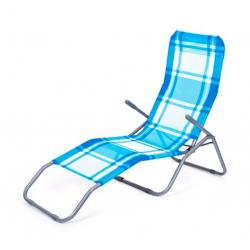 Happy Green Leżak plażowy niebieska kostka