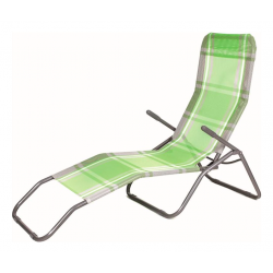 Happy Green Leżak plażowy zielona kostka