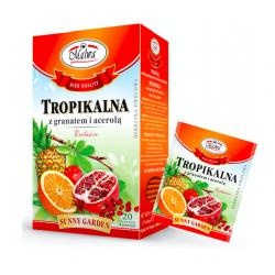 Malwa Herbatka Tropikalna z Granatem i Acerolą, 20 torebek w kopertach