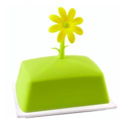 Vialli Design Maselniczka Livio kwiat, limonkowa